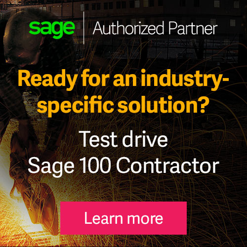Test Drive Sage 100 Contractor